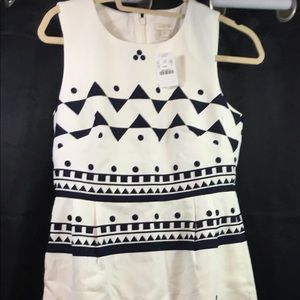 J.Crew Button Front Dress in Roller Girl New Sz 4